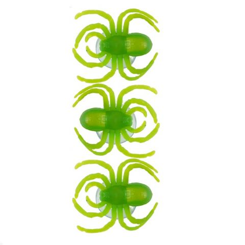 Spiders Window Suckers - Spooky Green Halloween Fun - Pack of 3